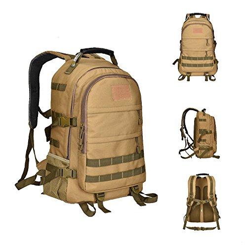 dushow groß Tactical Rucksack Sport Outdoor Military Rucksack Wandern Camping Rucksack/Rucksack Gepäck Tasche Khaki