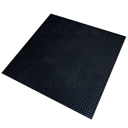 Katara 1672 - Große Bauplatte Grundplatte 40cm*40cm/50x50 Noppen, Kompatibel Lego, Q-Bricks, Papimax, Sluban, Schwarz