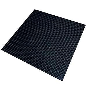 Katara 1672 - Placa de Construcción Grande 40x40cm / 50x50 Pernos, Compatible con Lego, Sluban, Papimax, Q-Bricks, Negro