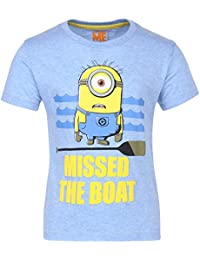 Minions Boys' Plain Regular Fit T-Shirt