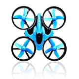 Efanr Mini RC Quadcopter Drone, 2.4G 6 Axis Headless Mode Small Remote Control One-key Return UAV with LED Light Toys Aircraft Helicopter UFO (Blue)