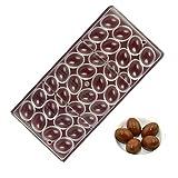 gaeruite, stampo per cioccolato a scomparti multipli in forma di semicerchi, in policarbonato, per realizzare ovetti di cioccolato; stampo da cucina trasparente a file collegate, in plastica dura