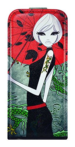 FONEXION City Girls Collection - Custodia per iPhone 5C, Colore: Verde