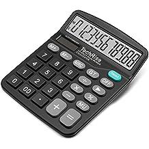 Taschenrechner, Techrise Standard-Taschenrechner Dual-Power wissenschaftliche (Solar und Batterie) Tischrechner
