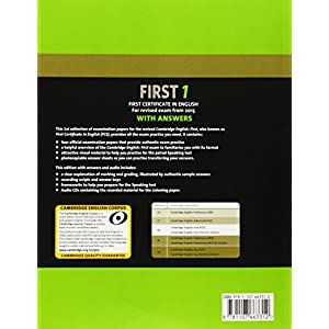 Cambridge first certificate in english. For updated exam. Self-study pack. Con CD Audio: First Certificate in English with Answers. For Revised Exam .