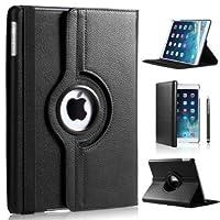 Apple iPad Mini / iPad Mini 2 PU Leather Wallet Smart Flip Case Cover with Free Screen Protector For Apple Ipad Mini /Mini 2/ Mini 3 (BLACK)
