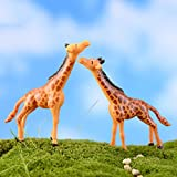 BESTIM INCUK Miniature Fairy Garden Giraffe Statue Home Decoration Outdoor Decor