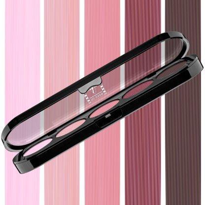 Beste Lidschatten Palette Make-Up Atelier Paris T10 Brown mauve tones, Profi-Augenpalette mit 5 Farben, hoch pigmentierte Lidschatten (Atelier Paris Make-up)
