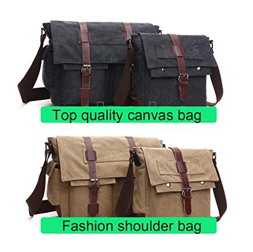 Super moderno vintage messenger bag borsa di tela militare Leisure borsa a tracolla viaggio borsa a tracolla Khaki1