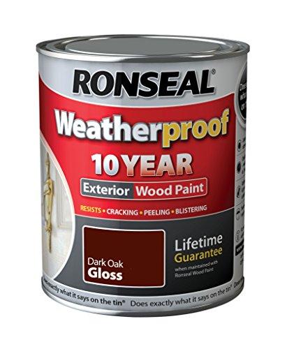 Ronseal Wetter 10 Jahre Holzfassadenfarbe Gloss 750ml Eiche dunkel