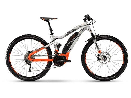 Haibike E-Bike SDURO FullNine 8.0 500Wh 20-G XT 18 HB YXC Silver/orange/Olive matt X-Large