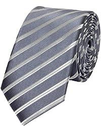 Schmale 6-cm Slim Krawatte von Fabio Farini in verschiedenen Farben, geeignet für Arbeit, Hochzeit oder Ball