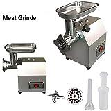 V.JUST 60kg/h Acero Inoxidable Comercial Picadora de Carne, Eléctrico Industrial Hueso