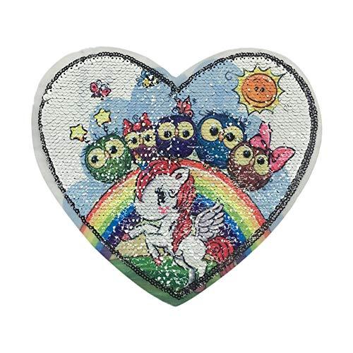 Lovemay Aufnäher Pailletten Patches Applikationen AccessoiresLeopardenstoff dekorativen Zusatzgeräte für dekorative Kleidung, Taschen usw.(20cm*22cm)
