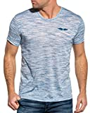 Backlight T-Shirt Fin Souple Bleu Clair Chiné - Couleur: Bleu - Taille: M