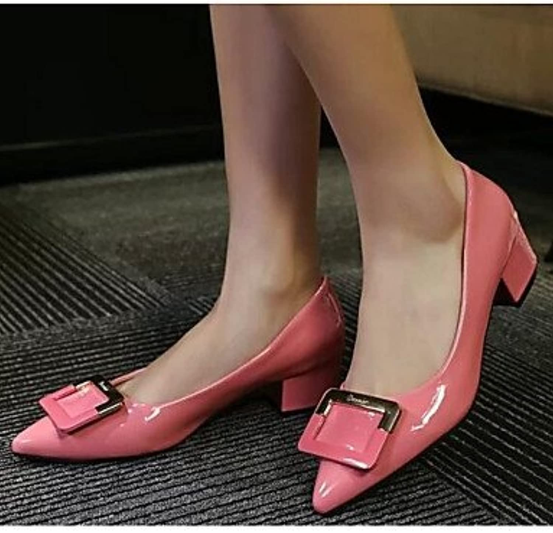 RTRY La Mujer Sneakers Confort Pu Primavera Confort Informal Almendra Plana Negro Rubí Rubor Rosa Us5.5 / Ue36...