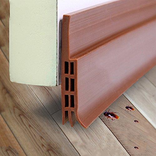 Unter Tür Sweep Wetter Abisolieren Tür Bodendichtung Strip 1m schaldicht winddicht Schlafzimmer Tür Draft Stopper, Silikon, braun, 50 mm (Stopper Tür Draft)
