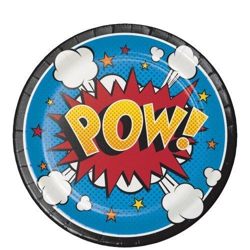 51OOm1w7YHL - Creative Converting Platos Superhero Slogans Pequeños