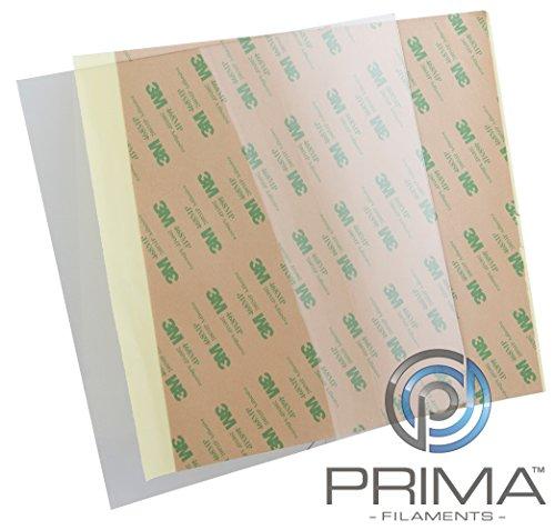 PrimaCreator PF-PEIU-500x500-05 PEI Ultem Sheet, 500 mm x 500 mm, 0.2 mm with 3M 468MP Tape - Best Price