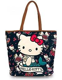 Hello Kitty , Sac à main pour femme multicolore Mehrfarbig Taille unique