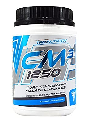 BEST WEIGHT GAIN TABLETS -- CM3 1250 x 360 capsules -- Best Tri Creatine Malate from Mammoth XT Supplements