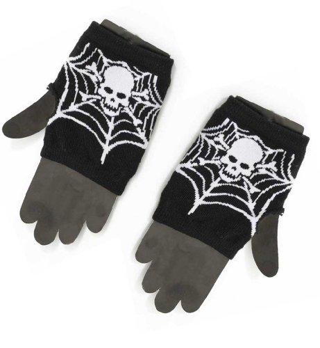 , ohne Finger, Spinnennetz, schwarz, Halloween, Karneval,... (Schnell Und Einfach Zu Hause Halloween-kostüm Ideen)