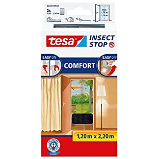 TESA Insect Stop Comfort Red Anti Mosquitos Puerta Plata – Mosquiteras (2200 x 60 x 1200 mm, Plata, 454 g)