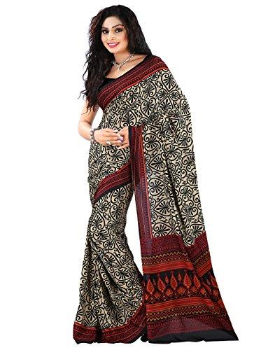 Roopkala Silks & Sarees Crepe Saree (Dv-816_Beige)