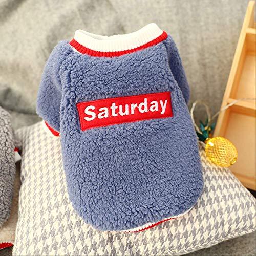 Frühling/Sommer Haustier Hund Kleidung Für Kleine Hunde Baumwolle Haustier Katze Weste Kleidung Haustier T-Shirt Hund Shirts Cartoon Chihuahua Mops Kostüme Lamm Samt T-Shirt Zweibeinige Kleidung XL (Blau Lamm Kostüm)