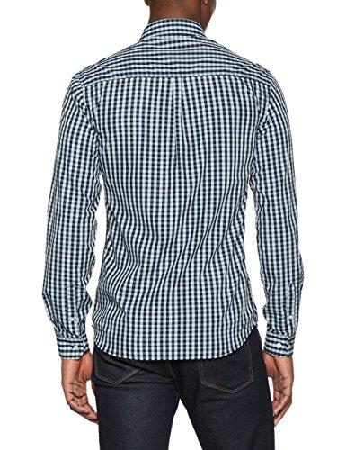Shine Original Herren Freizeithemd Small Check Shirt L/S Blau (Blue)