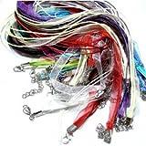 perlesmania.com PAX Organza-Halskette, 4-Reihig, Mehrfarbig, PS11713