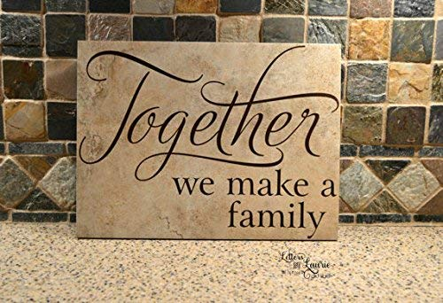Monsety Unique Together We Make A Family Adoption Geschenk Gemischte Familie Zitat 22,9 x 30,5 cm Holzschild Wanddeko Garten Schilder und Plaketten