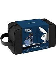 Playboy 3 Produits King Eau de Toilette 60 ml + Déodorant 150 ml + Trousse de Toilette Homme