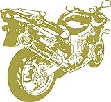 graz-design Wandtattoo Sportbike | Wanddekoration Sticker Jugendzimmer/Wohnzimmer | Wandaufkleber für Kinder/Jungs (33x30cm//826 oasis)