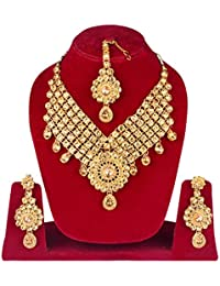 Traditional Gold Plated Kundan Choker Necklace Set For Women / Jewellery Set For Bridal Girls (GSET000A2)