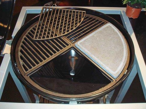 CIG 60 Vierteiliger Grillrost für 60 cm Grills aus Gusseisen