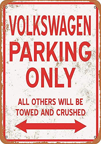 RABEAN Volkswagen Parking Only Póster Pared Aluminio
