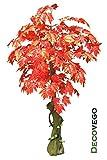 Ahorn Ahornbaum Kunstpflanze Kunstbaum Künstliche Pflanze Rote Blätter 180cm Decovego