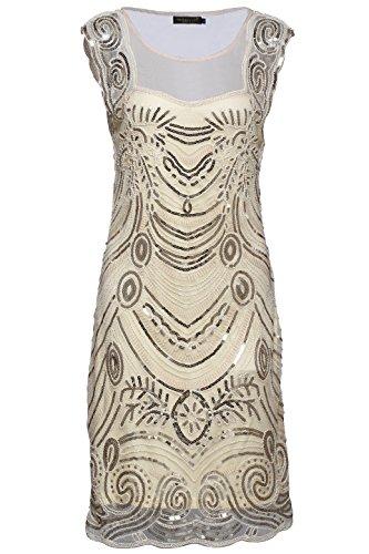 Babeyond Frauen Flapper Kleider Zwanziger Jahre Sequined Beaded Große Gatsby Kleid