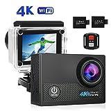 HD Action Cam, Crazy Fire 4K Acción Cámara WIFI Full HD Camera Deportes resistente al agua...