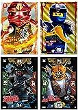 Ninjago XXL Karten 4 Stück + Bonus (Set 1)