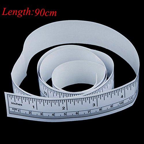 LYCOS3 Selbstklebendes Maßband, Lineal, Maßband, Vinyl, Selbstklebende Lineale, metrisches Maßband, Nähmaschine, Sticker, Werkzeug, Wie abgebildet, 90 cm (Ein Maßband Lesen, Wie Zu)
