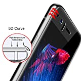 Oneplus 5 Tempered Glass 5D, Edge to Edge Full Protection, Crystal Clarity (Black), Full Glue 9H Hardness, Anti-Bubble & Oil Stains Coating, Tempered Glass Screen Protector for One Plus 5 Marshland