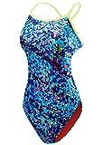 TYR Womens Ozeanien Badeanzug - Blau Größe 36