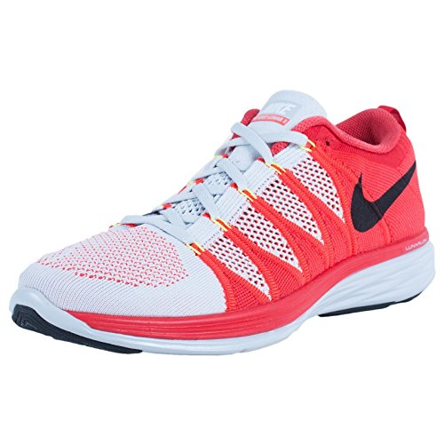 Nike Flyknit Lunar2 Us 6 Rose Running Shoe Pure Platinum / Black / Bright Crimson