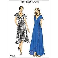 Vogue Patrones de Costura para Vestidos,, tamaños 8–16