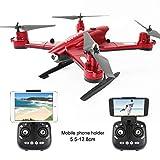 JackeyLove 2.4 G Pieghevole RC Drone Selfie Quadrocopter 0.5 MP WiFi FPV HD Camera impostata Alta Hovering Auto Ritorno RC Elicottero UAV,Red