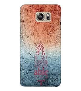 EPICCASE say I love you Mobile Back Case Cover For Samsung Note 6 (Designer Case)