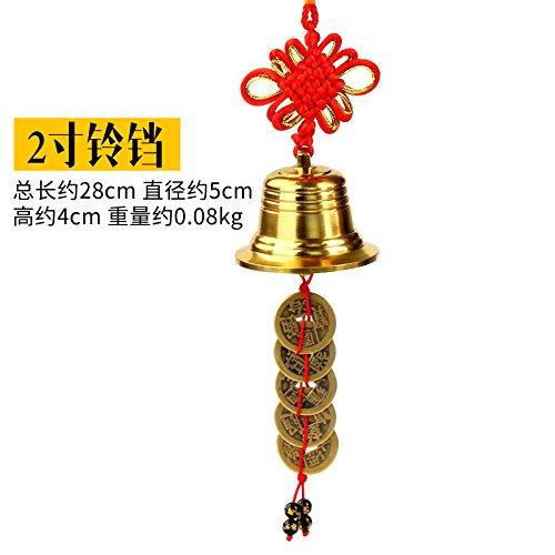 BAGEHAN Feng Shui Kupfer Glocken fünf Kaiser Kupfer Anhänger Wang Choi sichere Seiko Messing Bronze Wind Chimes Kupfer Ornamente, 2-Zoll Kupfer Glocken (Messing-outdoor-hängenden Anhänger)