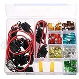 Audew Kit 10 KFZ-Sicherungshalter mit 120 Stueck Sicherung Auto Flachsicherung